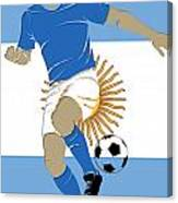 Argentina Soccer Player2 Canvas Print