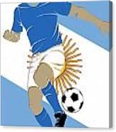 Argentina Soccer Player3 Canvas Print