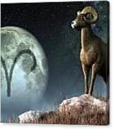Aries Zodiac Symbol Canvas Print