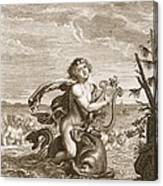 Arion Preserved By A Dolphin, 1731 Canvas Print