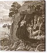 Aristeus Compels Proteus To Reveal Canvas Print