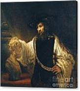 Aristotle With Bust Of Homer Canvas Print