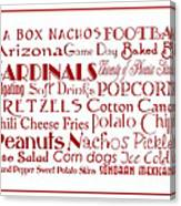 Arizona Cardinals Game Day Food 3 Canvas Print