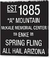 Arizona College Town Wall Art Canvas Print