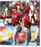 Arizona Diamondbacks V San Francisco Canvas Print