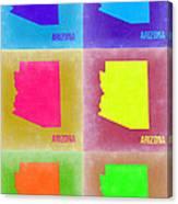 Arizona Pop Art Map 4 Canvas Print