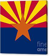Arizona State Flag Authentic Color And Scale Version Canvas Print