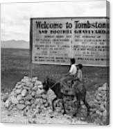 Arizona Tombstone, 1937 Canvas Print
