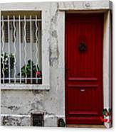 Arles House With Red Door Dsc01806  Canvas Print