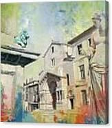 Arles Roman And Romanesque Monuments Canvas Print