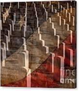 Arlington Cemetery With Faded Flag Canvas Print