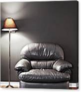 Armchair And Floor Lamp Canvas Print