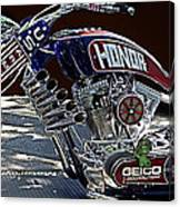 Armed Forces Tribute Bike Canvas Print