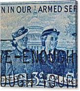 Armed Services Women Stamp Canvas Print