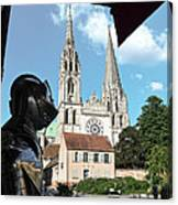 Armor And Chartres Cathedral Canvas Print