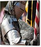 Armored Joust Knight Canvas Print