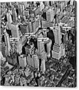 Army Air Corp Over Manhattan Canvas Print