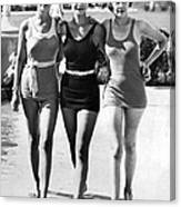 Army Bathing Suit Trio Canvas Print