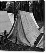 Army Tents Circa 1800s Canvas Print