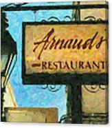 Arnauds New Orleans_oil Digital Art Canvas Print