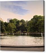 Around The Central Park Pond Canvas Print