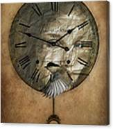 Around The Clock-time Is Flying Canvas Print