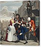 Arrested For Debt, Plate V From A Rakes Canvas Print