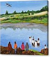 Arrival At The Baptism Canvas Print