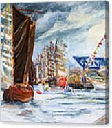 Arrival At The Hanse Sail Rostock Canvas Print