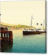 Arrival Of Boulogne Boat Folkestone - England  Canvas Print