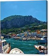 Arrival To Capri Canvas Print