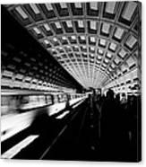 Arriving Metro Canvas Print