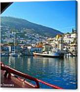Arriving At Hydra Canvas Print