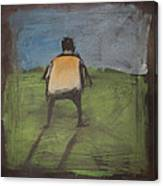 art critic relieves himself on Rothko's field Canvas Print