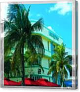 Art Deco Barbizon Hotel Miami Beach Canvas Print