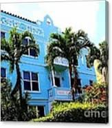 Art Deco Hotel In Miami Beach Canvas Print