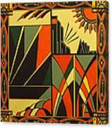 Art Deco In Orange Canvas Print