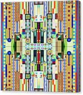 Art Deco Stained Glass 2 Canvas Print