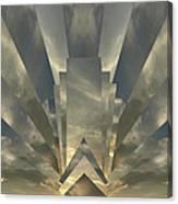Art Deco Sunset Canvas Print