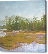 landscape print art for sale oil painting Serene Canvas Print
