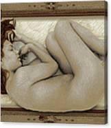 Art For The Sake Of Art Woman Framed 3 Canvas Print
