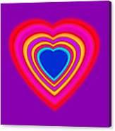 Art Heart Blue Canvas Print