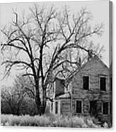 Art Homage Andrew Wyeth Abandoned 1930's Farm House Near Aberdeen South Dakota 1965-2012 Canvas Print