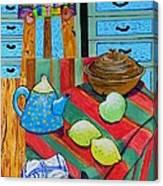 Art In The Kitchen Canvas Print