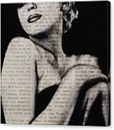 Art In The News 13-marilyn Canvas Print