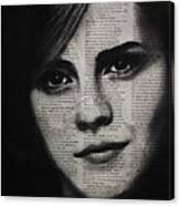 Art In The News 17-emma Watson Canvas Print