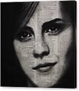 Art In The News 17-emma Watson Canvas Print