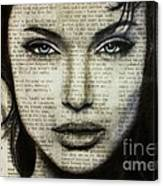 Art In The News 44- Angelina Jolie Canvas Print