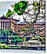 Art Museum Leaves Canvas Print