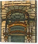 Art Nouveau Doorway In Ljubljana Canvas Print
